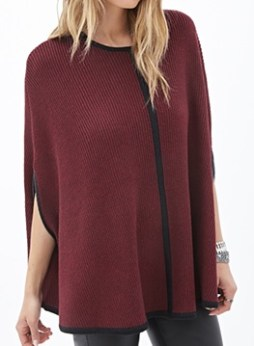 Ribbed Knit Cape, $29.80, forever21.com