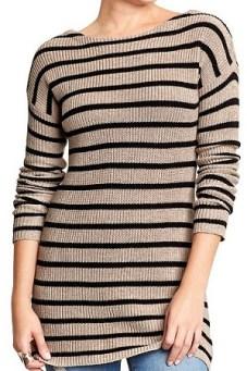 Women's Striped Tunic Sweater, $34, oldnavy.com