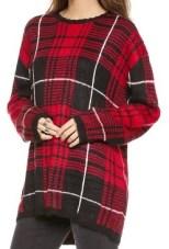 UNIF Jumbo Plaid Sweater, $88, shopbop.com