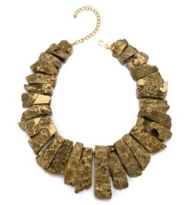 Kenneth Jay Lane Graduated Stick Agate Necklace, $88, shopbop.com