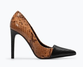 Printed Leather Court Shoes, $99.90, zara.com