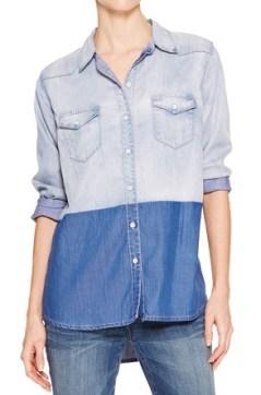 DKNY Jeans Denim Shirt, $61, dkny.com
