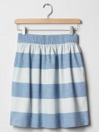 1969 Stripe Chambray Skirt, $19.99, gap.com