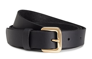 Narrow Leather Belt, $12.99, hm.com