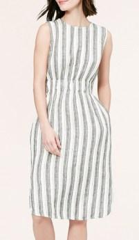 Striped Linen Midi Dress, $74.88, loft.com