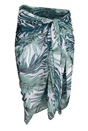 Tropical Leaf Print Sarong, $12.99, hm.com