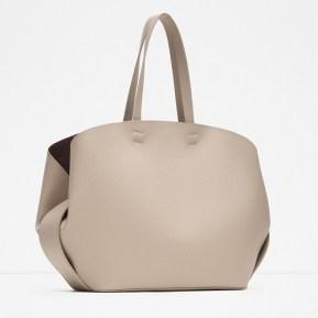Contrasting Tote Bag, $39.90, zara.com