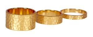 Gorjana Camilla Hammered Ring Set, $29.97, nordstromrack.com