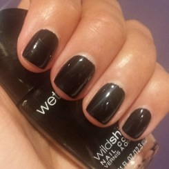 Wet 'N Wild Wild Shine Nail Color in Black Creme