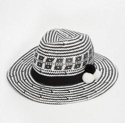 7X Woven Hat With Pom Poms, $30, asos.com