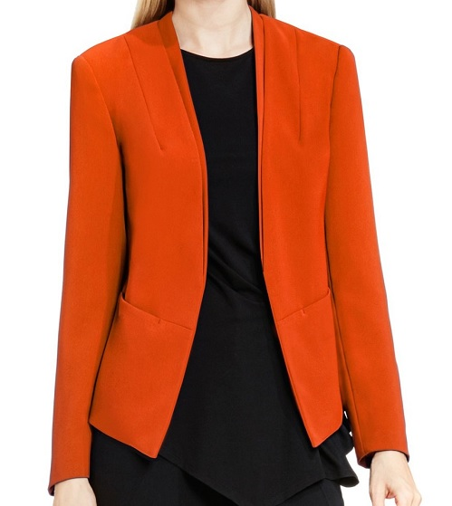 Vince Camuto Collarless Open Front Blazer, $159, nordstrom.com