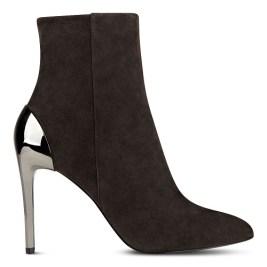 Yesday Metallic Heel Boots, $70, ninewest.com
