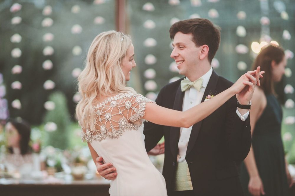 E and A dancing styled bride