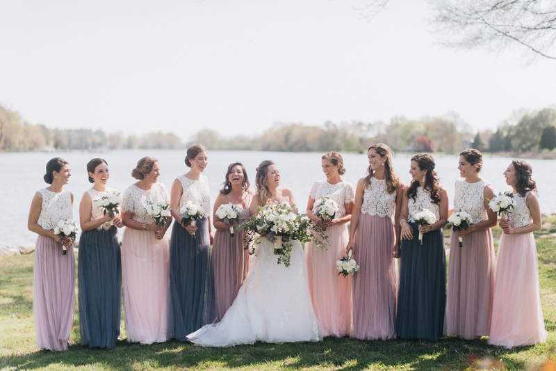 Neutral Palette Nautical Wedding at a Private Home in Maryland | www.thestyledbride.com