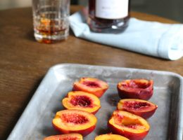 Brandy-Soaked Grilled Nectarines with Maple, Brown Sugar Butter