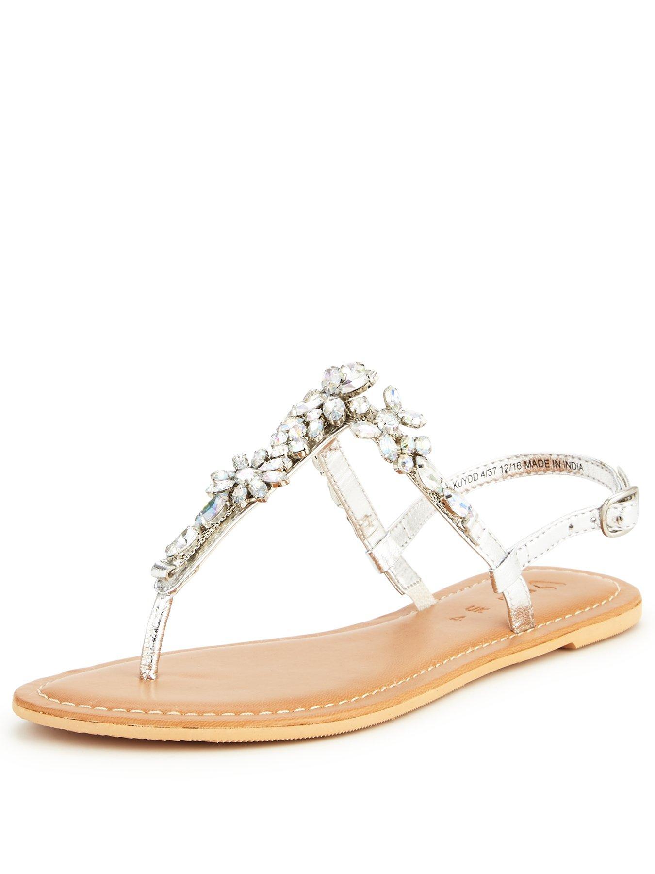 Black sandals littlewoods - Embellished Sandals 35 Shop Here