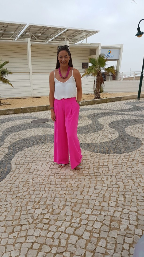 Top: Penneys (Similar here) Trousers: River Island - See here Sandals: River Island - See here Necklace: Old old old (bought on honeymoon in Mexico!)