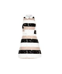 River Island Lace Stripe A-Line Dress,