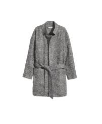 H&M Grey Boucle Wrap Coat, £49.99