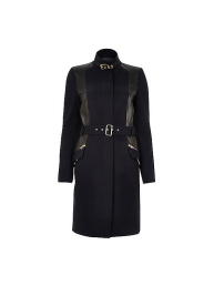 River Island Structured Navy Military Coat, £95