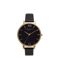 Olivia Burton Black and Gold Big Dial Watch, £80