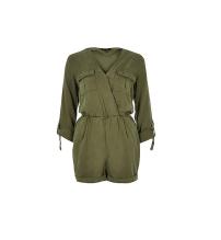 Khaki Linen-Blend Playsuit, £45