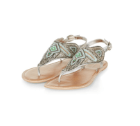 New Look Leather Beaded Sandals