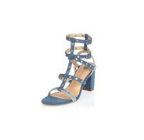 River Island Denim Studded Sandals