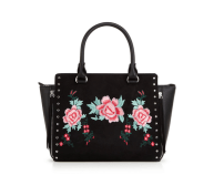 V by Very Embroidered Stud Tote Bag