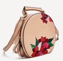 Zara Embroidered Oval City Bag