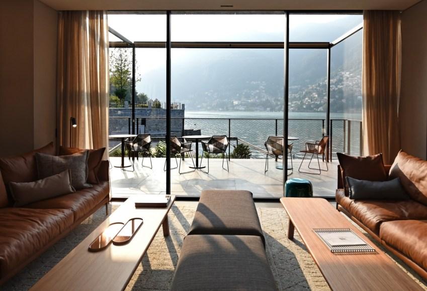 Il Sereno design hotel di lusso sul Lago di Como lobby vista - thestylelovers.com