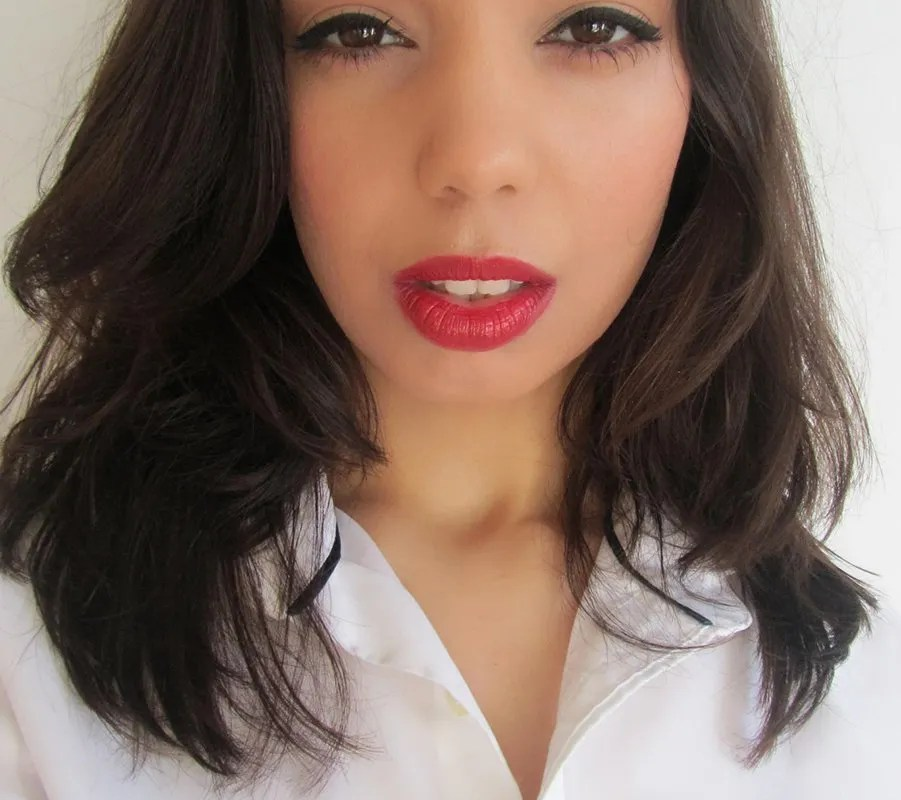 Makeup look: A classic red lip