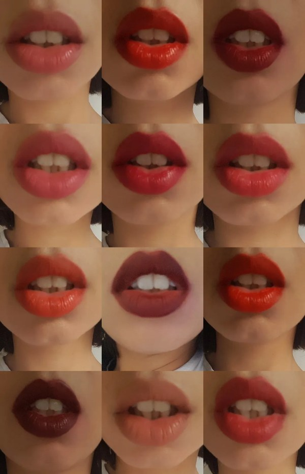 close up of lips with lipstick