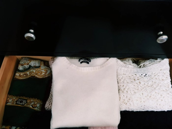 Jumpers in drawer