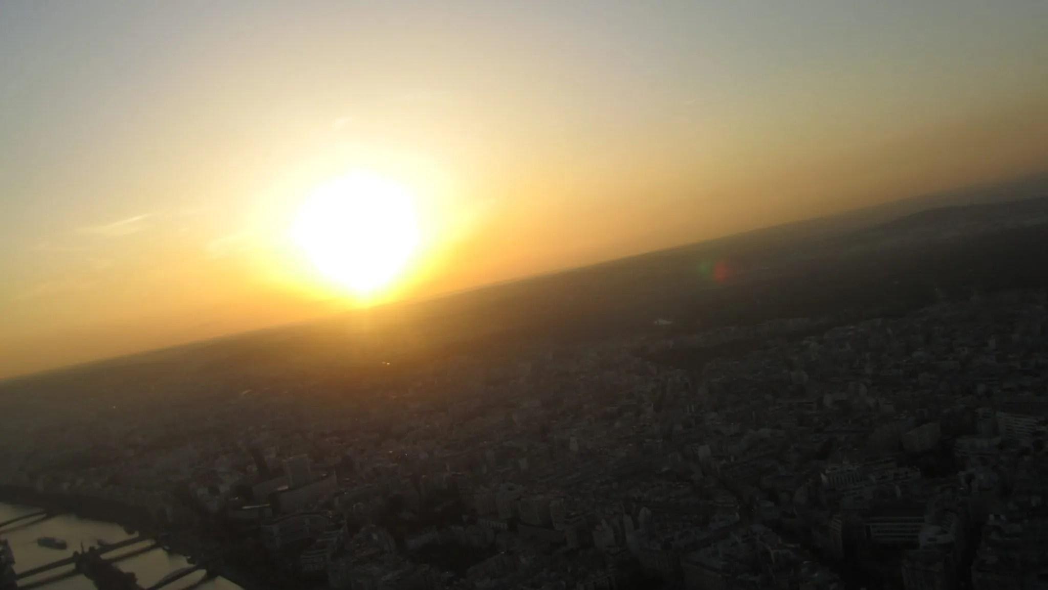 Paris view sunset
