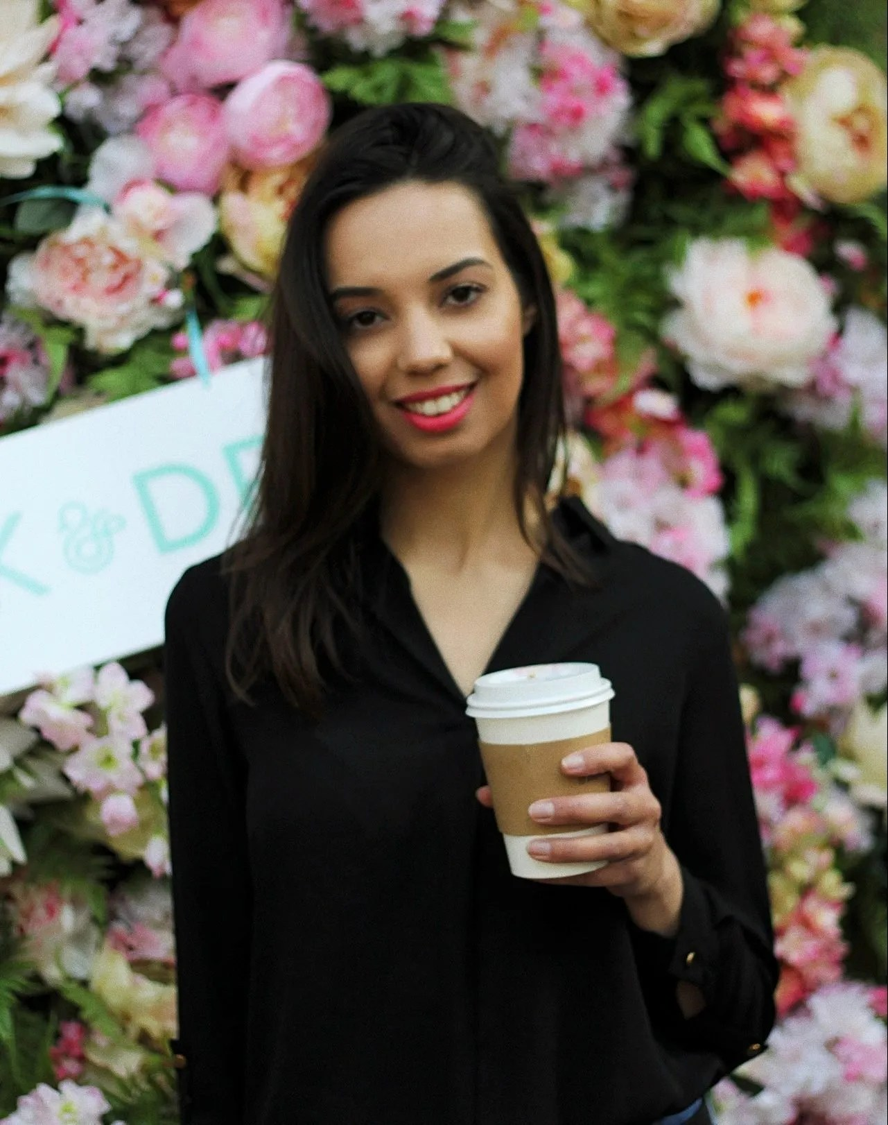luck and success - girl with coffee London - The Style of Laura Jane