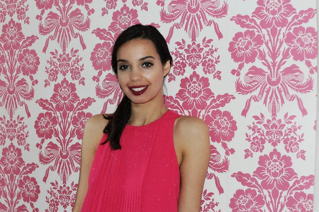girl in pink dress smiling - The Style of Laura Jane
