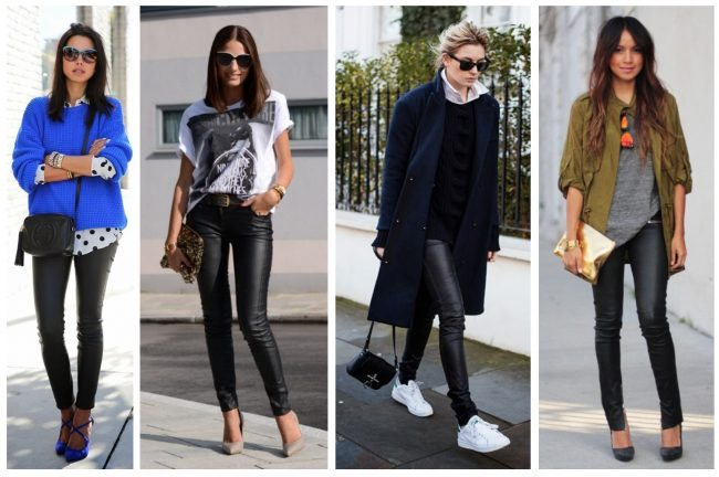 how to wear black leather pants