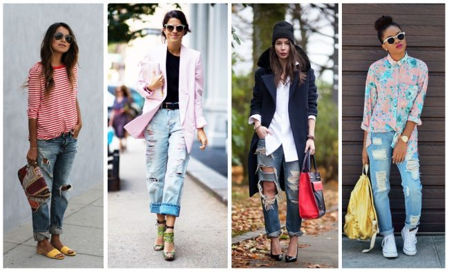 How to wear distressed boyfriend jeans, closet essentials // thestylesafari.com