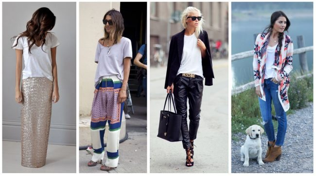 how to wear a white slouchy tee shirt, closet essentials // thestylesafari.com