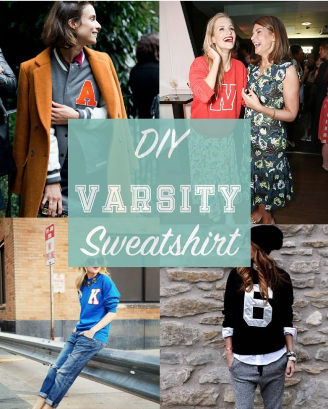 DIY varsity sweatshirt craft project // thestylesafari.com