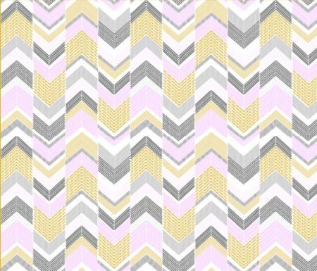 Gold Silver Pink Chevron Arrow print fabric // thestylesafari.com