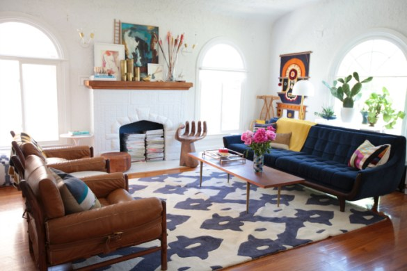 cognac leather chair living room inspiration