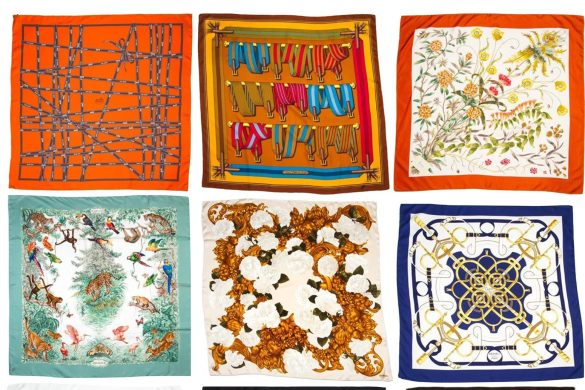 Hermes, Chanel, Gucci and Pucci scarves for sale on BidSquare, use scarves as wall art