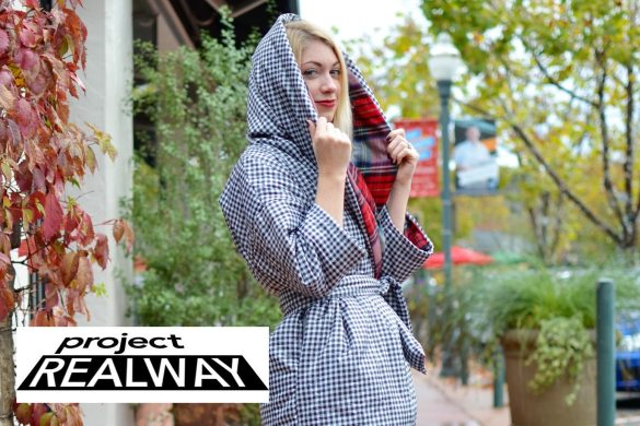 project real way challenge 7, editorial new york look, puffer coat, reversible down coat, sewing, handmade, plaid coat, reversible plaid coat, what to wear in winter, project runway // thestylesafari.com