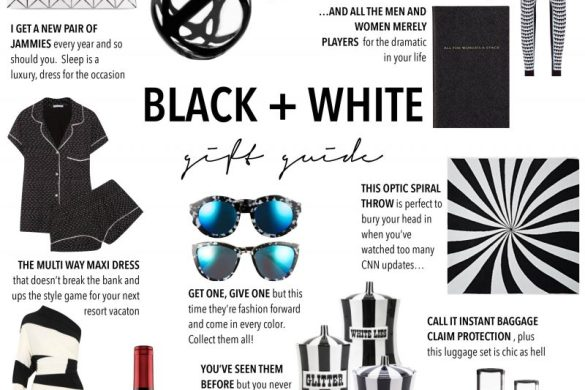 black white holiday gift guide 2016 // thestylesafari.com