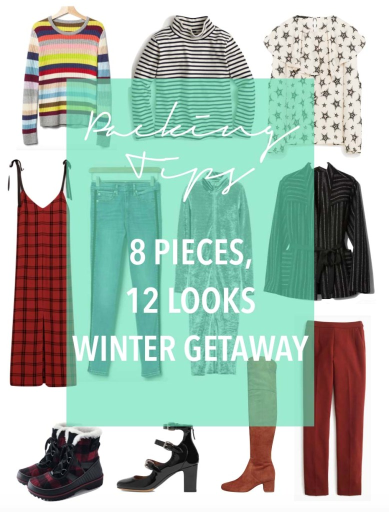 Packing tips- how to pack 8 pieces for 12 looks for a winter getaway 2