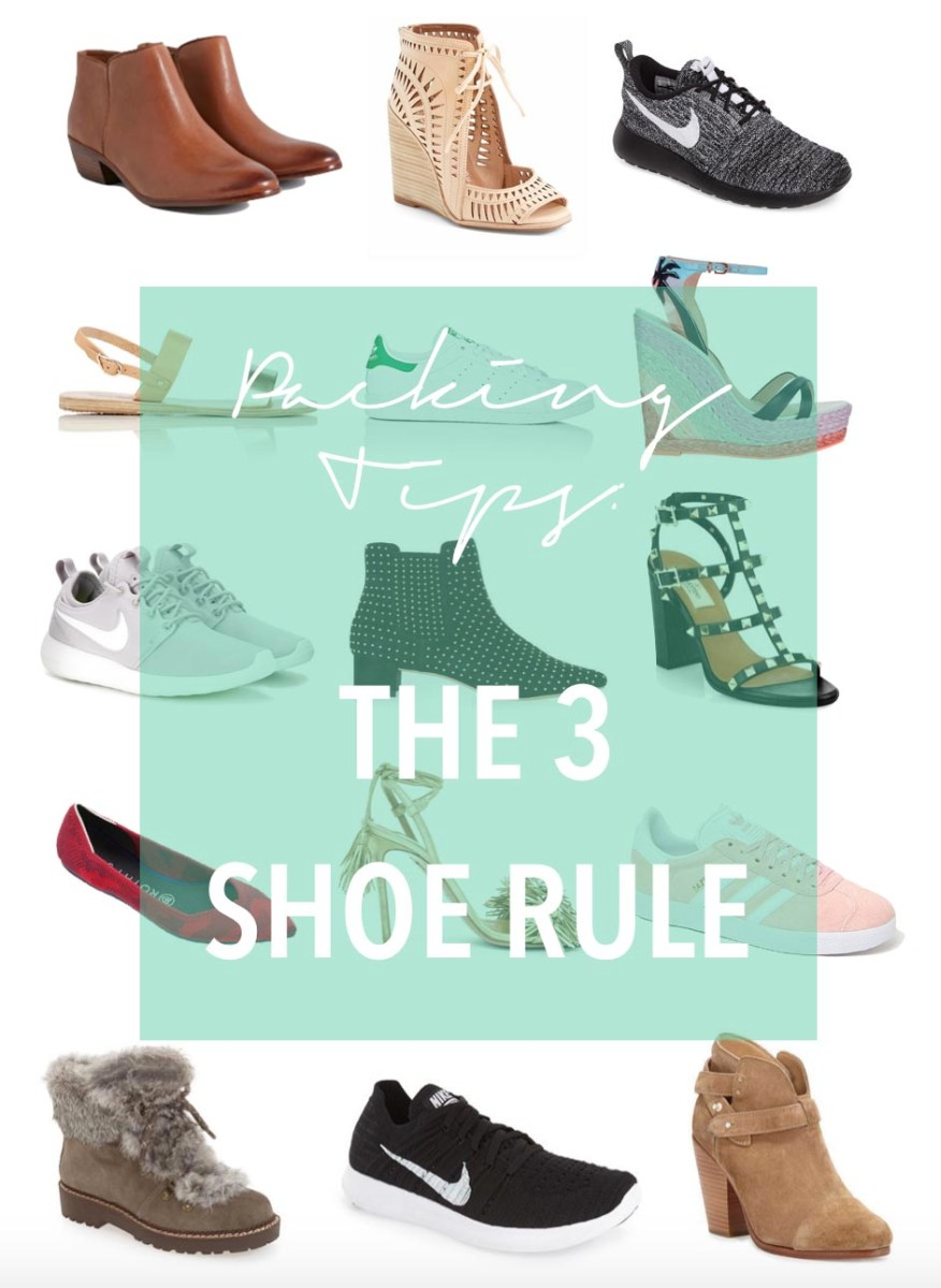 Packing Tips: The 3 Shoe Rule