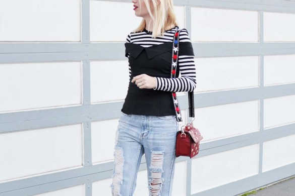 How to style a black and white stripe tee