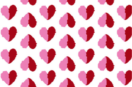 valentines pink red white broken heart fabric and wallpaper print available on Spoonflower